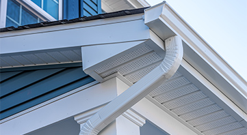 gutter installation performed by richmond va home improvement contractor