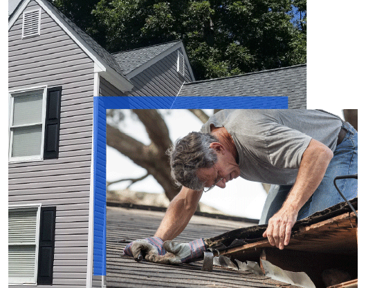 home improvement contractor replacing roofing on richmond va home